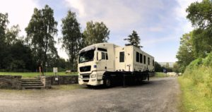 Image of the Handicamper stationed at the Scottish Canoe Association Campsite Grandtully